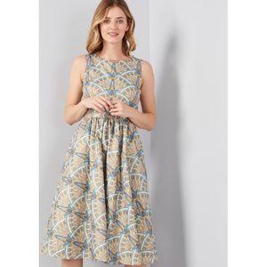 ModCloth | Automatic Classic Midi Cotton Dress L